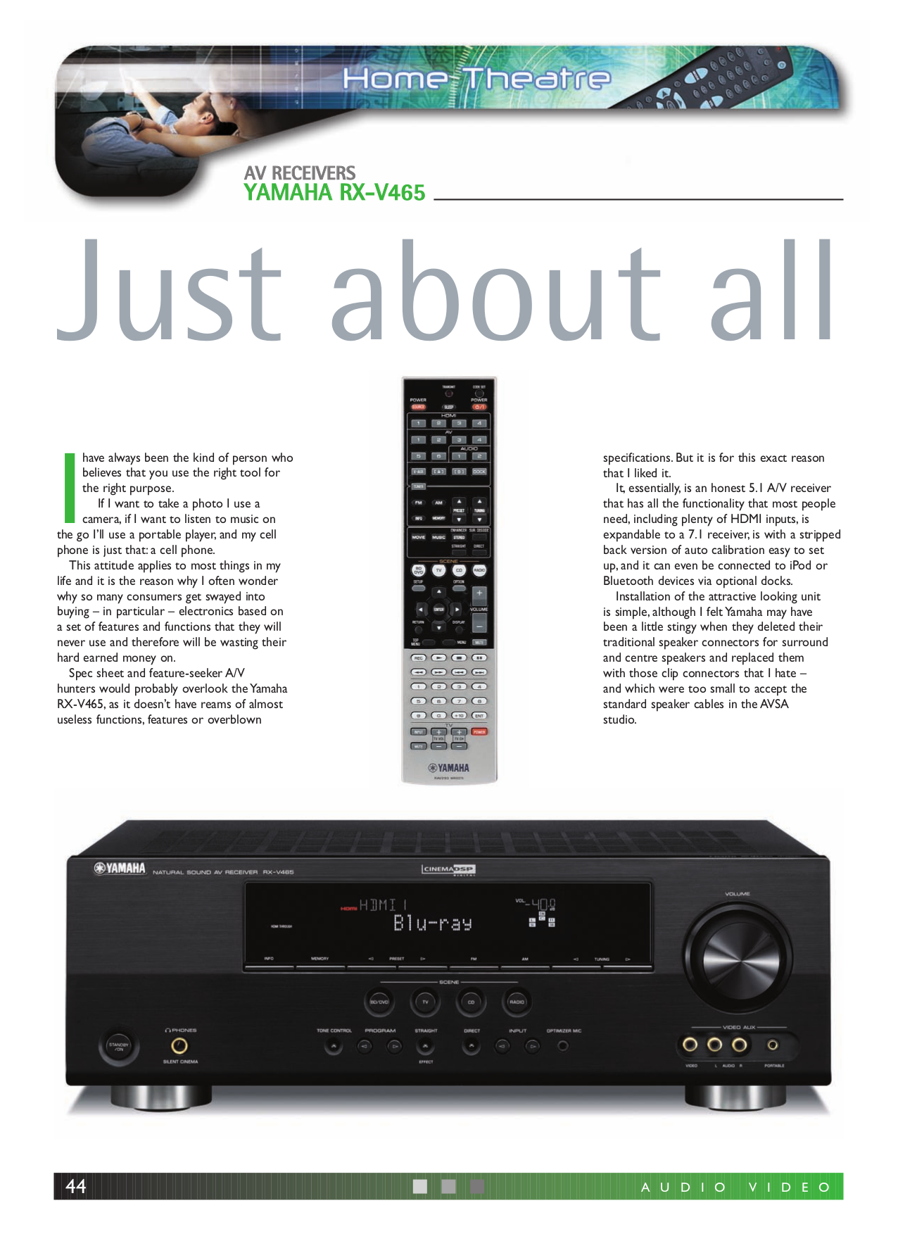 download free pdf for yamaha rx v465 receiver manual rh umlib com yamaha natural sound av receiver rx-v465 manual Yamaha RX V650 Black