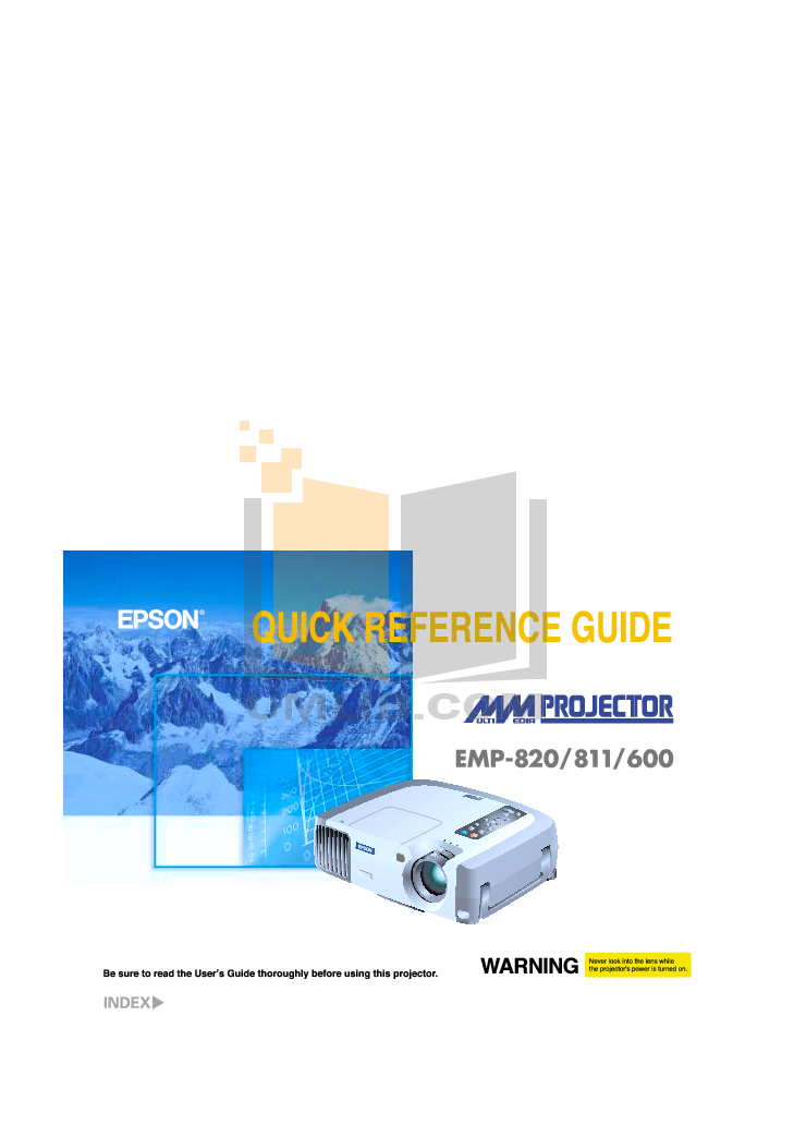 pdf for Epson Projector EMP-820 manual