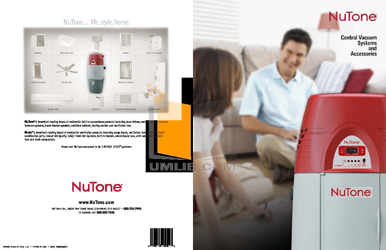 Download Free Pdf For Broan Nutone Performance Cv450 Vacuum Manual Intercom Wiring Diagram