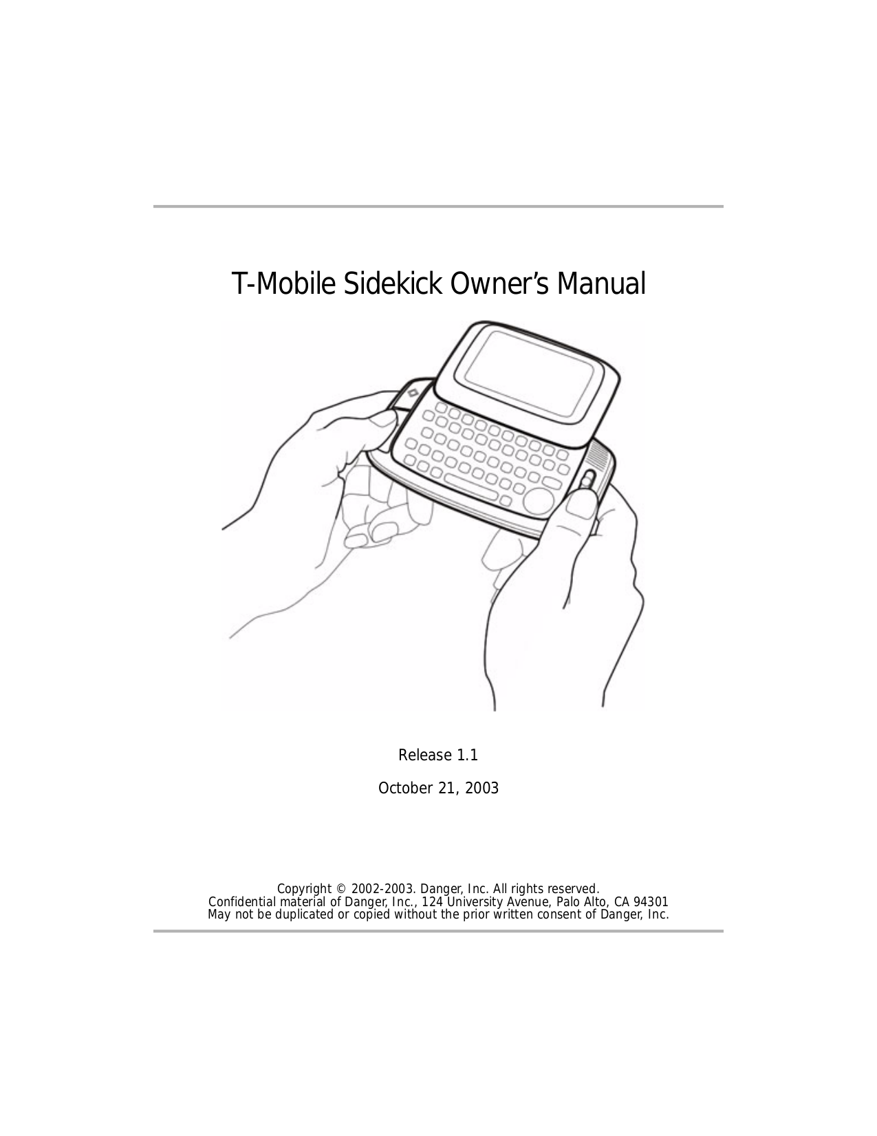 Download free pdf for T-Mobile Sidekick 2 Cell Phone manual