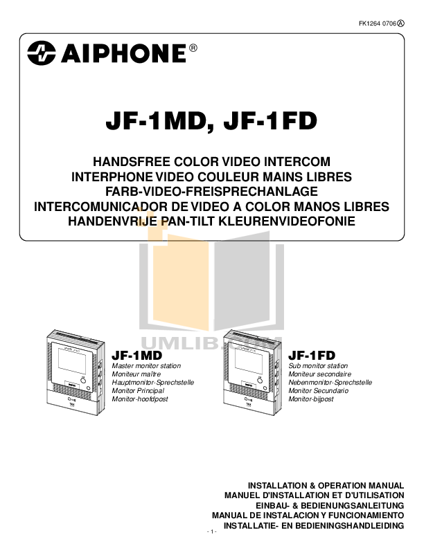 Aiphone JF 1MD video intercom installation.pdf 0 wat download free pdf for aiphone gf 1md telephone manual aiphone da-1md wiring diagram at nearapp.co