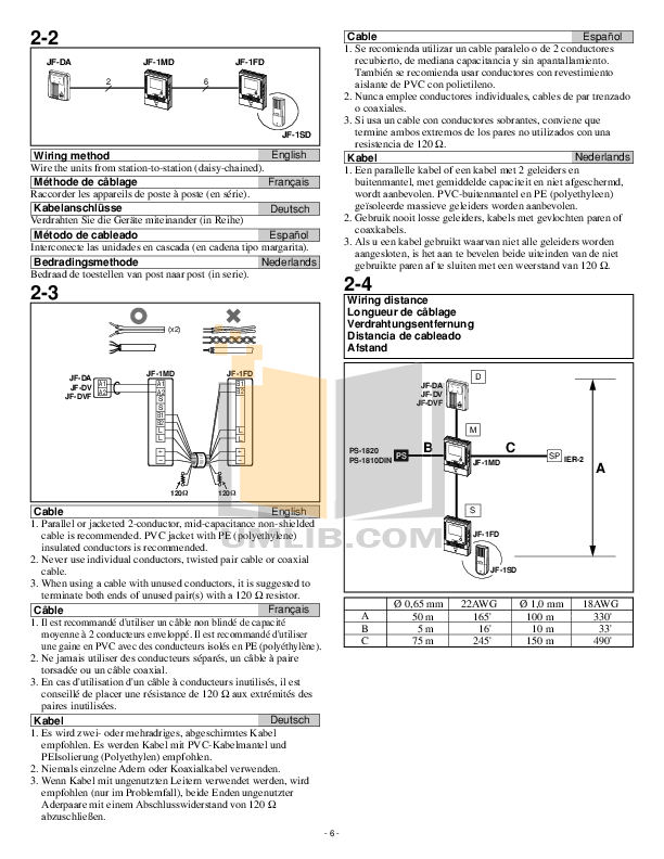 Pdf Manual For Aiphone Telephone Gf 1md