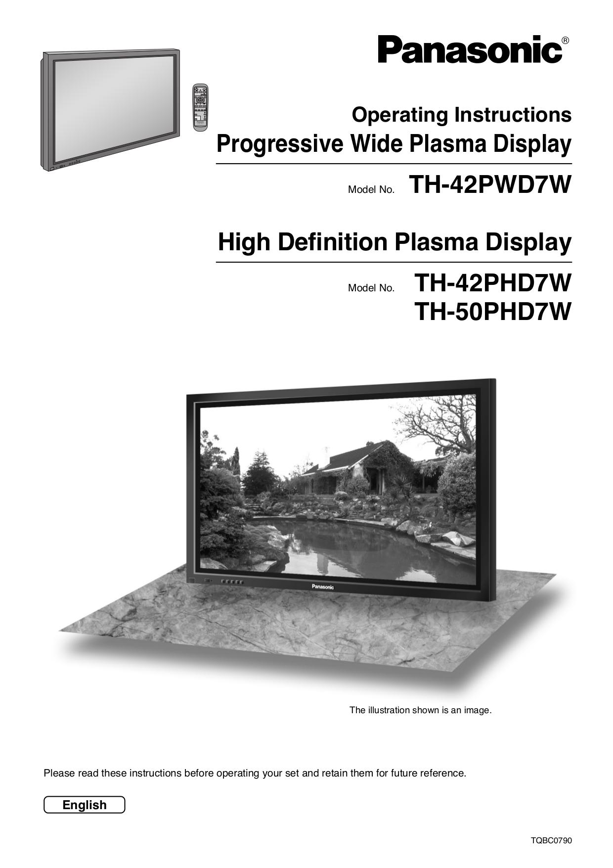 Download free pdf for Panasonic Viera TH-42PWD7 TV manual