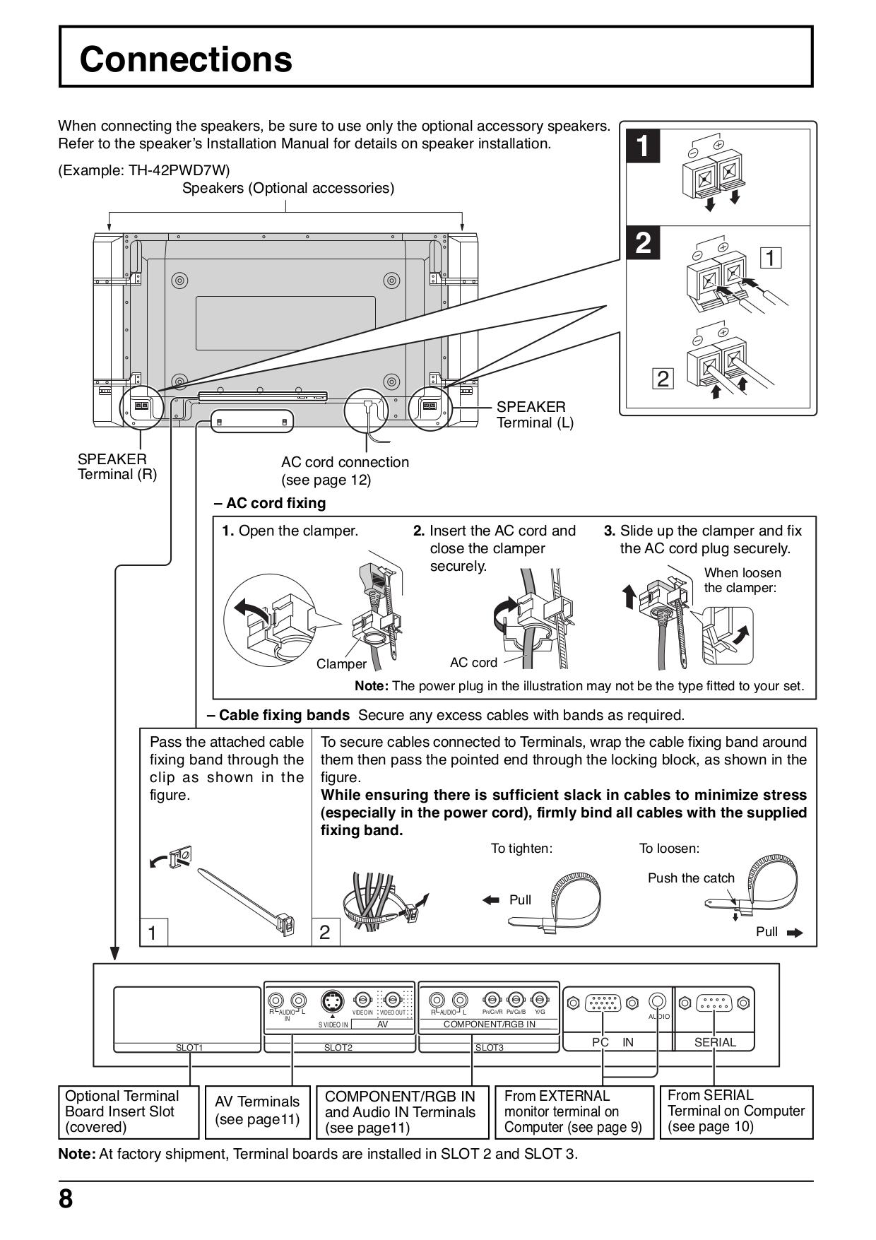 PDF manual for Panasonic TV Viera TH-42PWD7