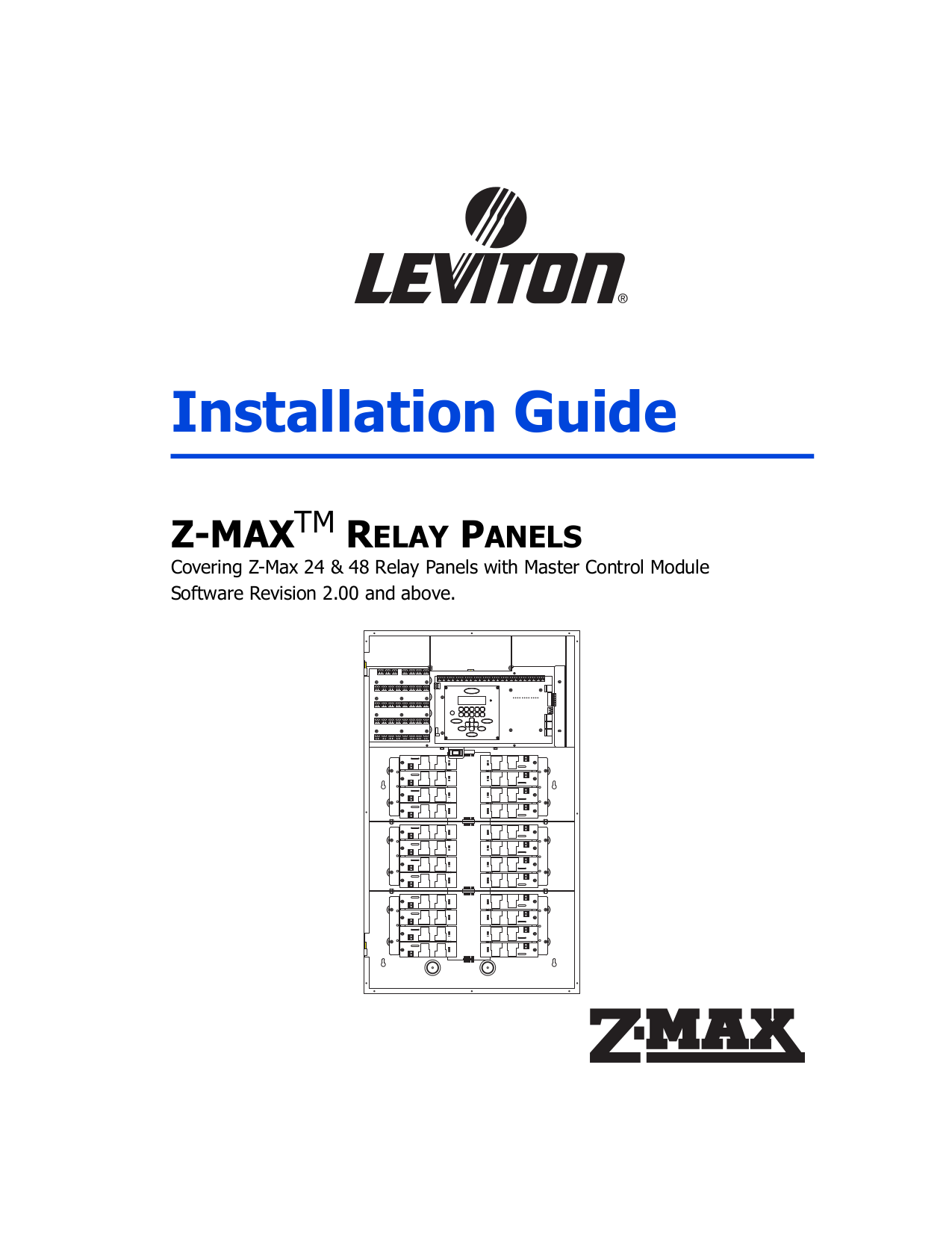 Download Free Pdf For Leviton ZMAX ZMax Remote Relay Panels - Basic of relay pdf