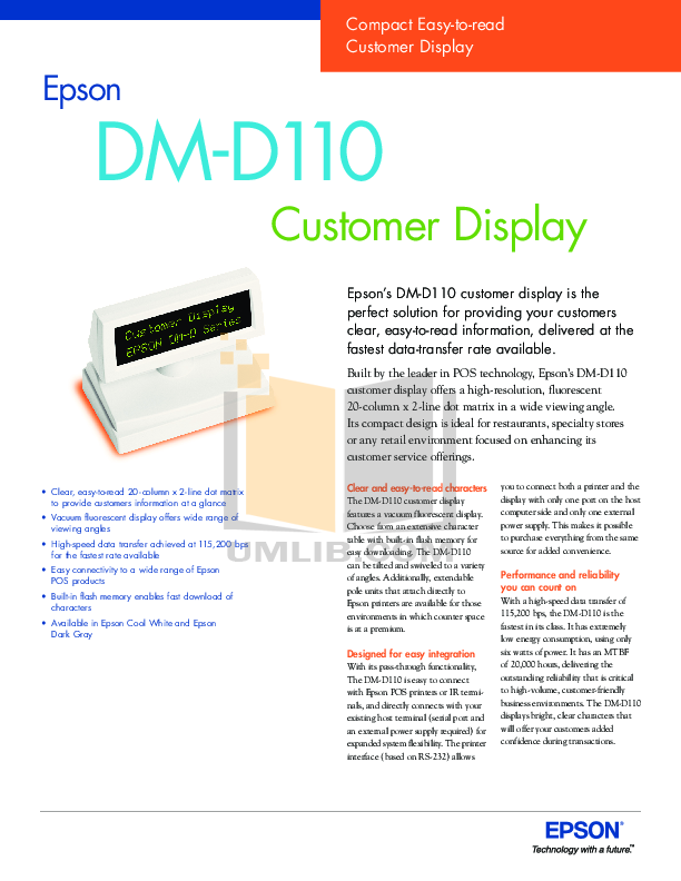 pdf for Epson Printer TM-T90 manual