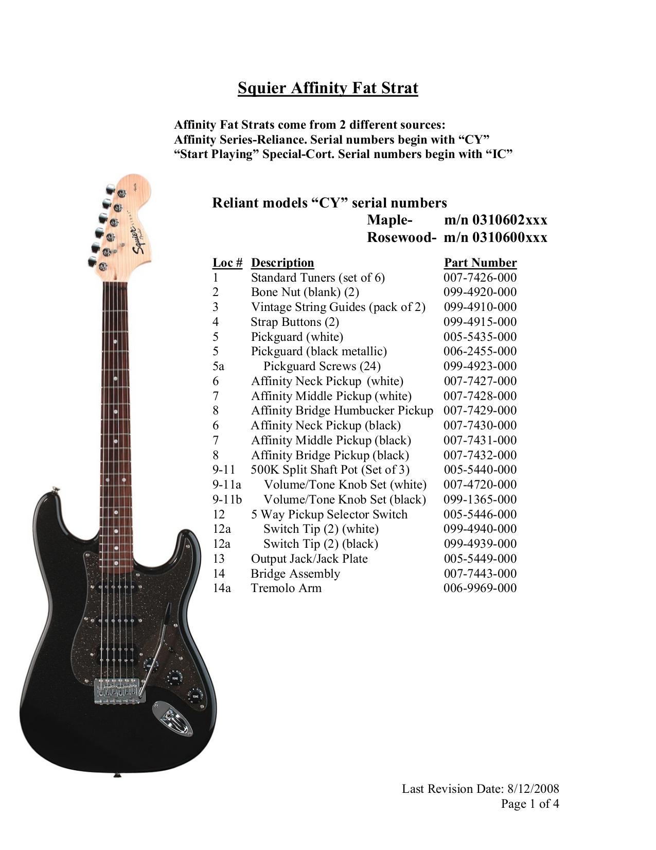 download free pdf for squier affinity fat strat guitar manual rh umlib com squier bullet strat manual squier standard stratocaster manual