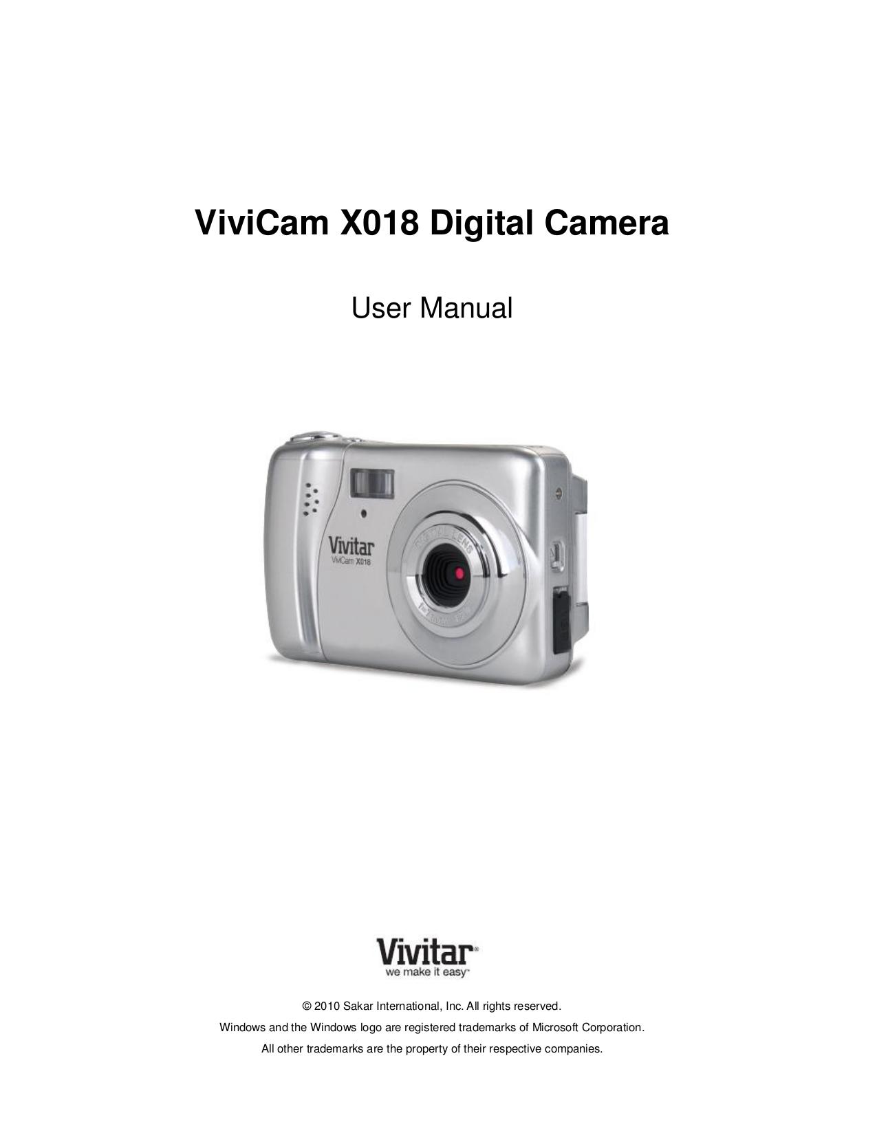 download free pdf for vivitar vivicam x018 digital camera manual rh umlib com vivitar mini digital camera manual en español vivitar 10x25 digital camera binocular manual