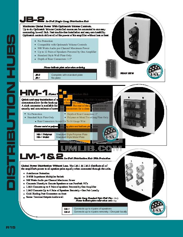 pdf for Audioplex Other JB-2 Distribution Hub manual
