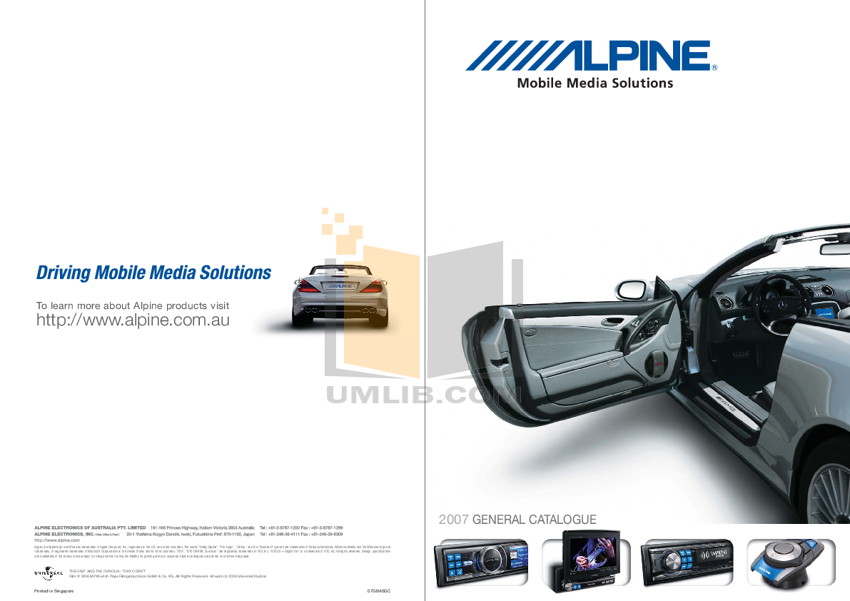 pdf for Alpine Other PXI-H990 Signal Processor manual