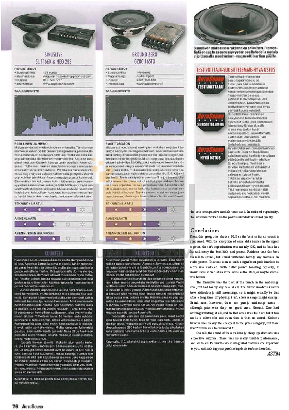Alpine Other PXI-H990 Signal Processor pdf page preview