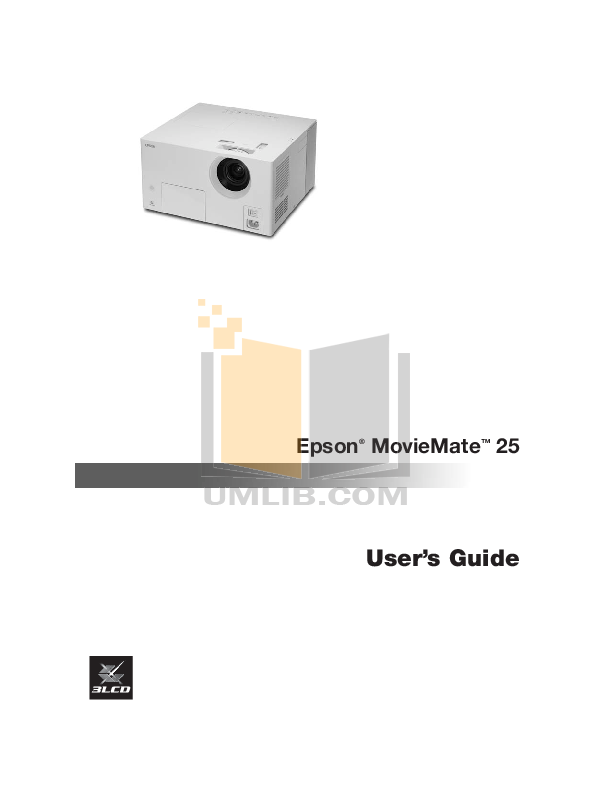 pdf for Epson Projector EMP-TW D1 manual