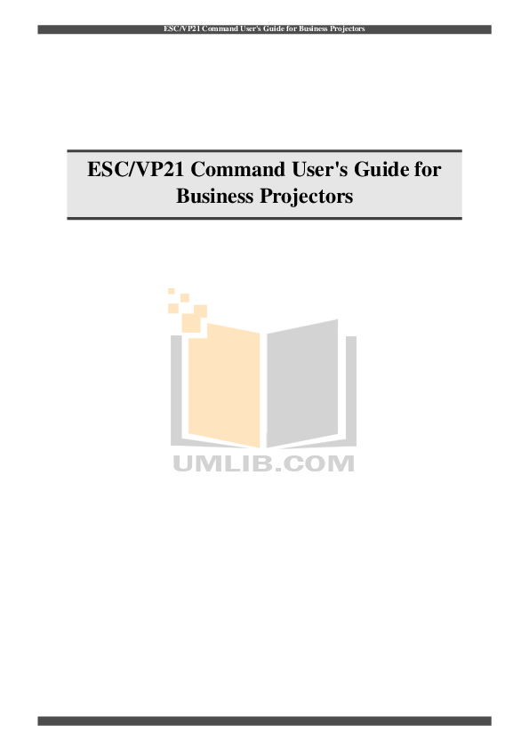 pdf for Epson Projector EMP-821 manual