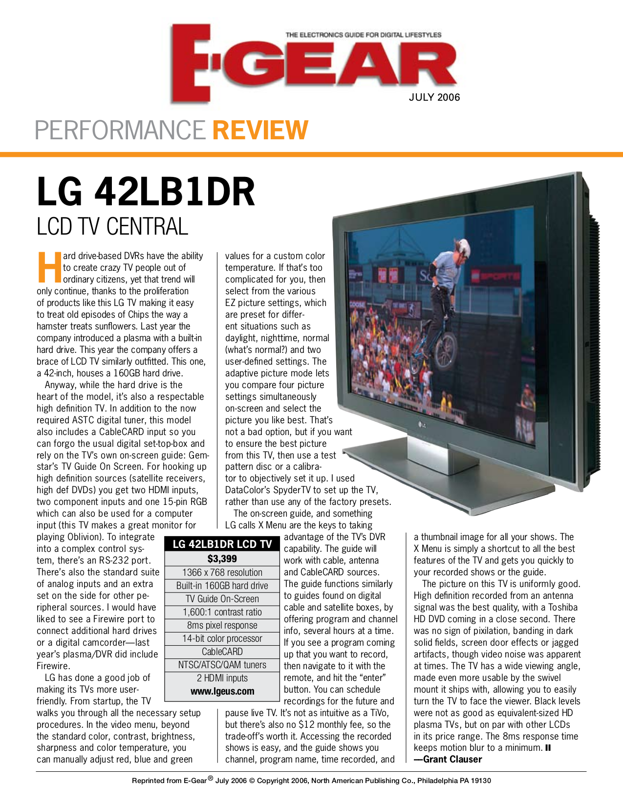 pdf for LG TV 42LB1DRA manual