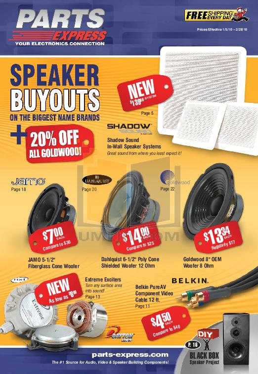 pdf for Dayton Speaker IO650 manual
