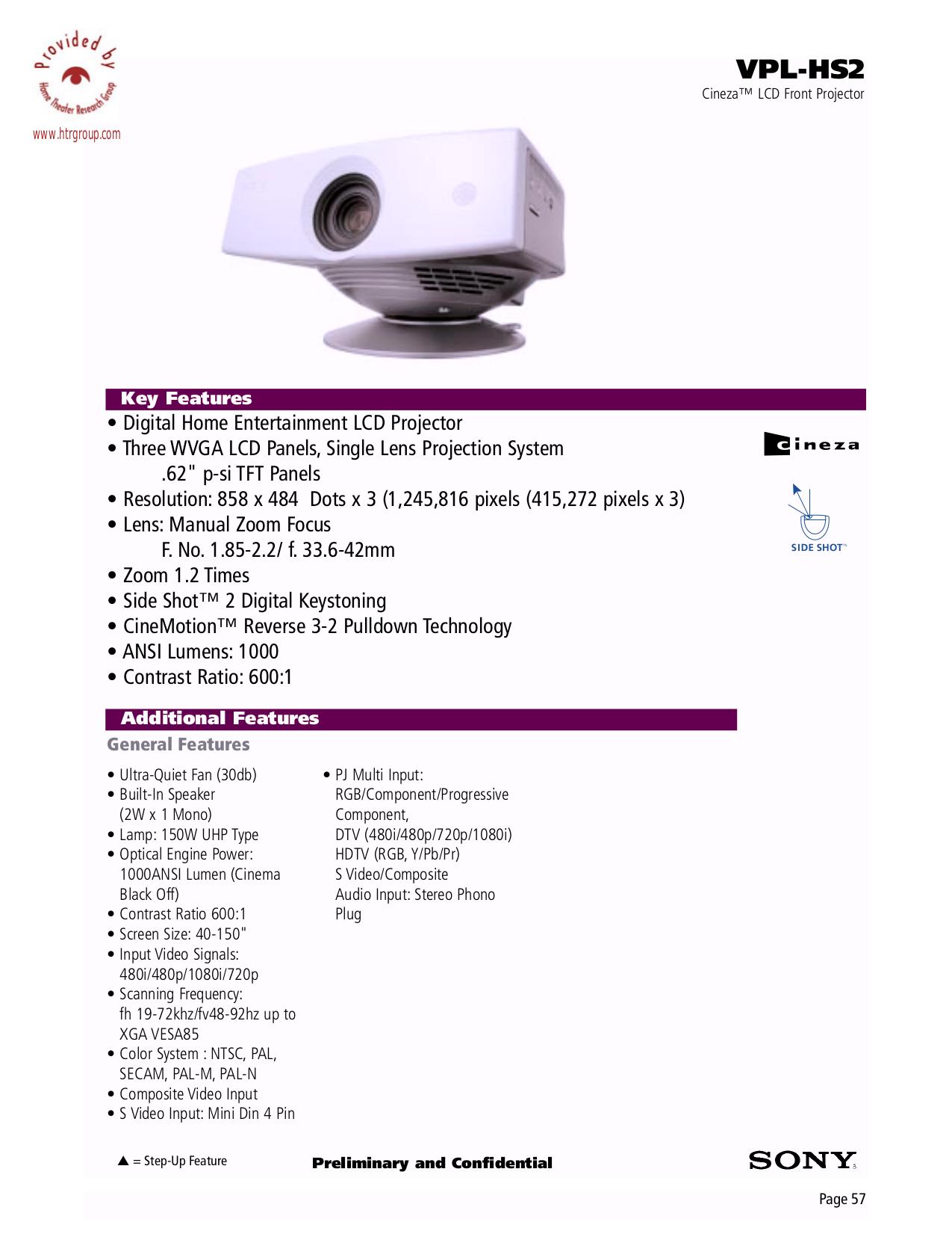 проектор sony инструкция