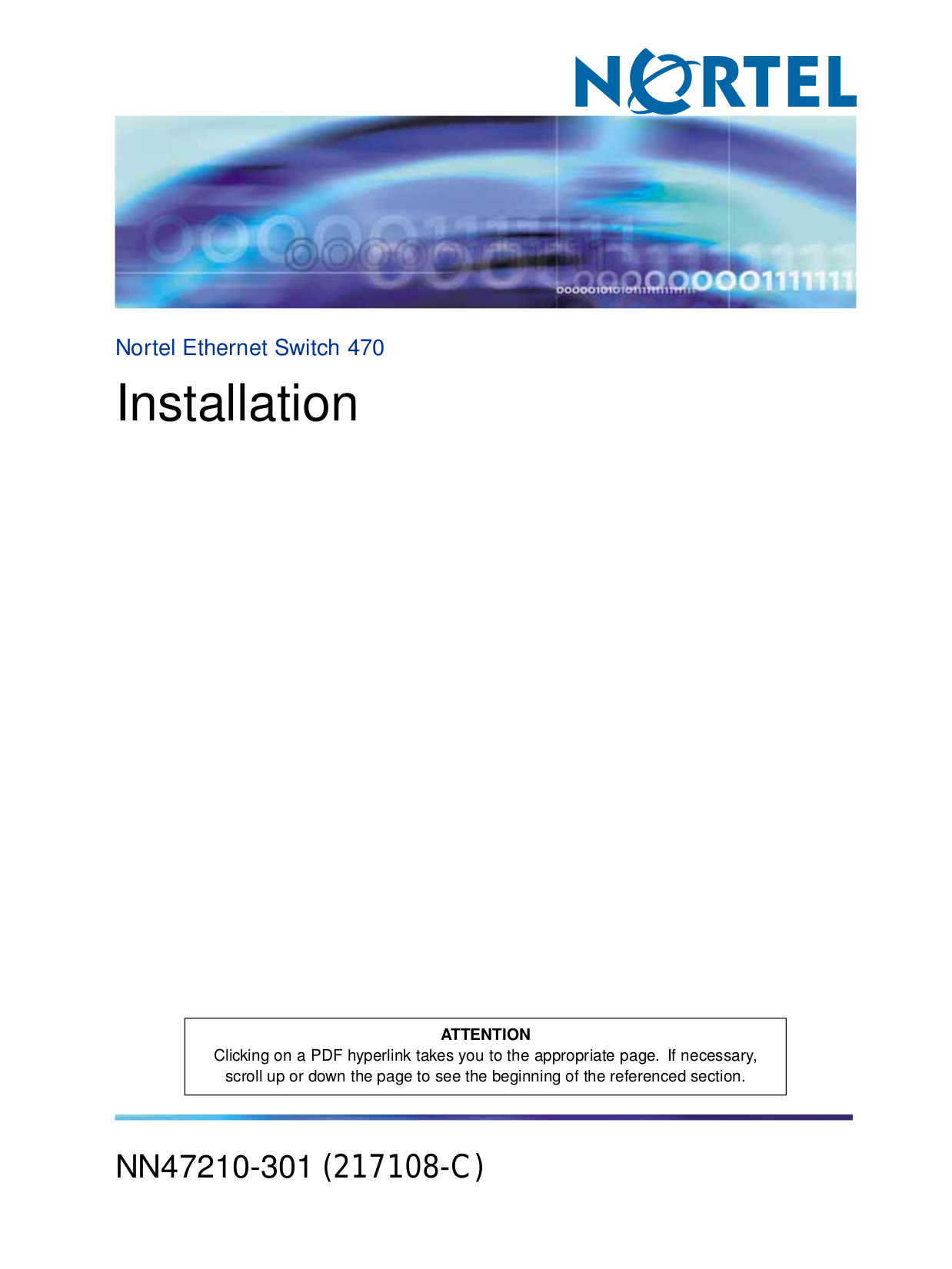 pdf for Nortel Switch 120 manual