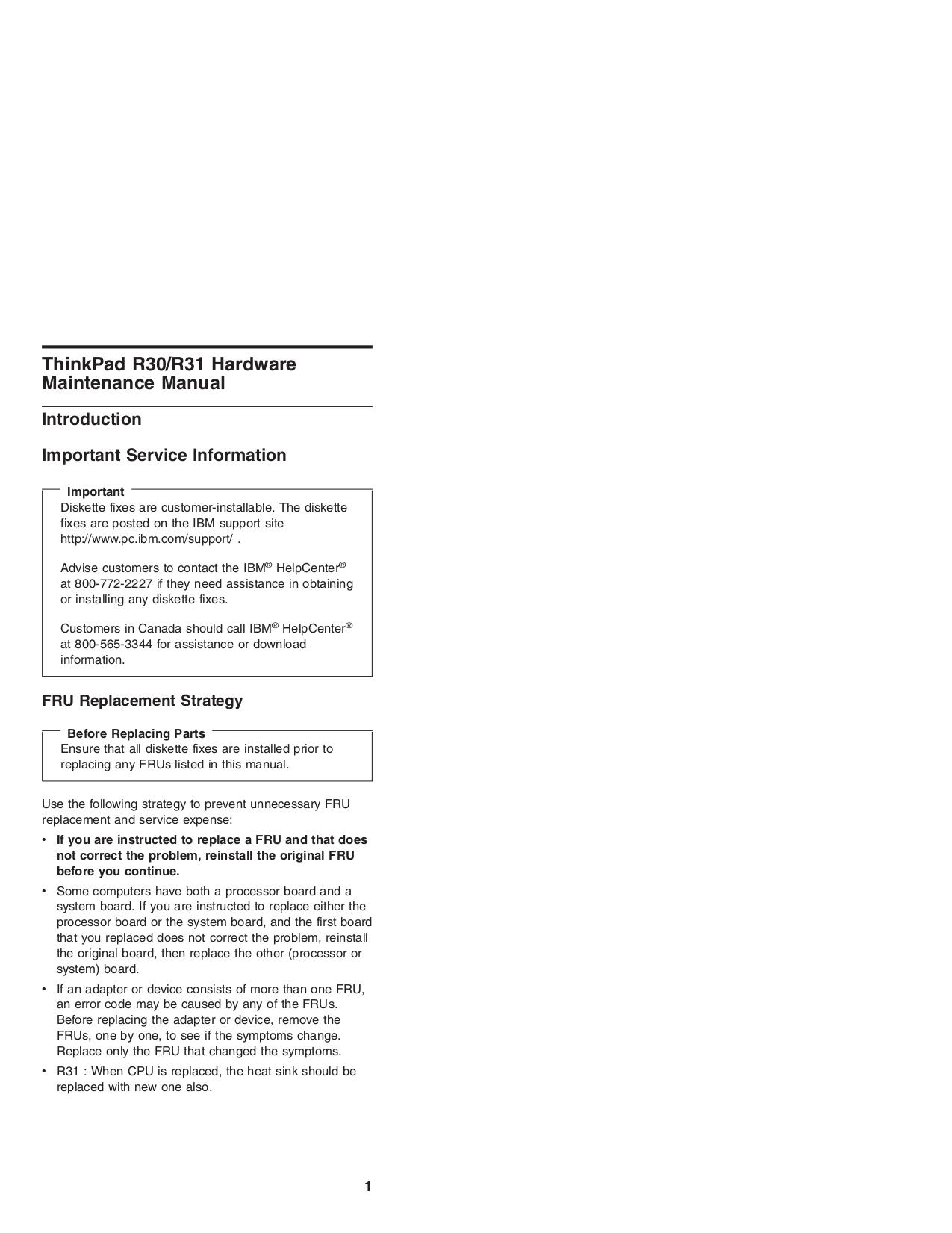 pdf manual for ibm laptop thinkpad r30 rh umlib com IBM ThinkPad R40 IBM ThinkPad R50