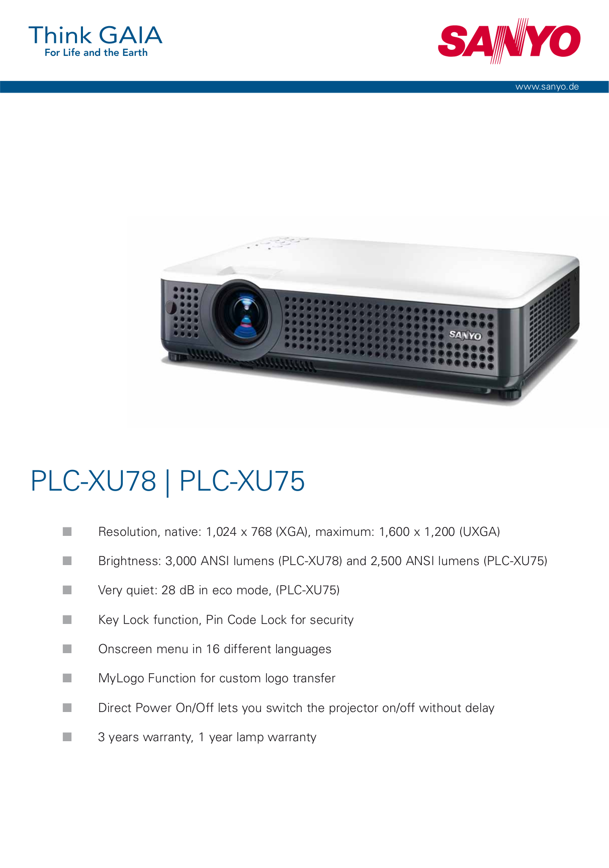 download free pdf for sanyo plc xu78 projector manual rh umlib com Sanyo Projector Pro X Manual Sanyo Projector Pro X Manual