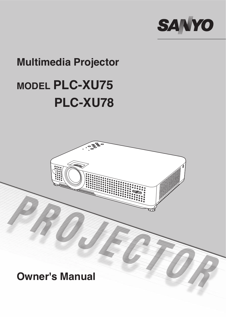 download free pdf for sanyo plc xu78 projector manual rh umlib com sanyo plc xu78 service manual Sanyo LCD Projector