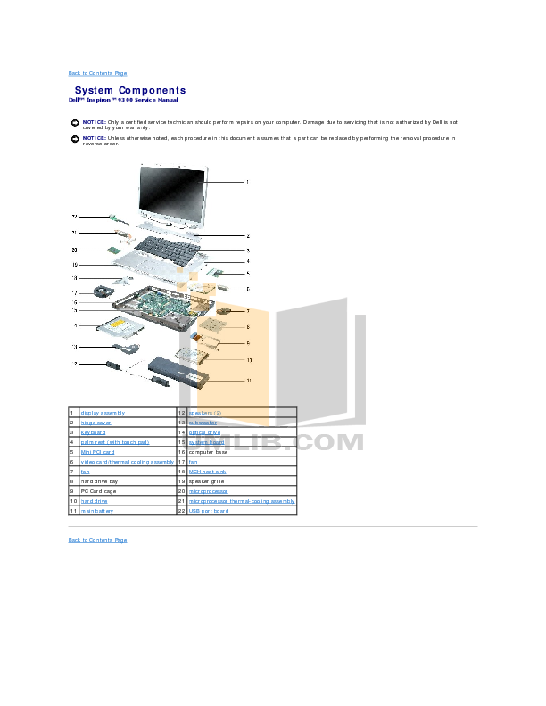 pdf manual for dell laptop inspiron 9300 rh umlib com dell inspiron 9300 repair manual dell inspiron 9300 service manual pdf