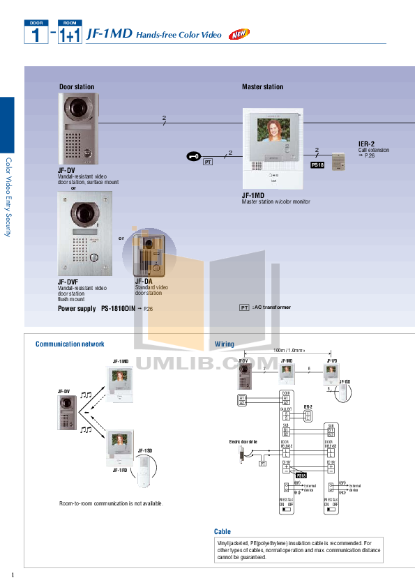 Aiphone Other TD-12Z Intercoms pdf page preview