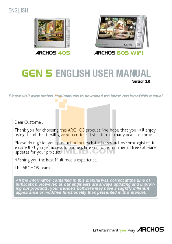 Page 3 of archos mp3 player 104 user guide | manualsonline. Com.
