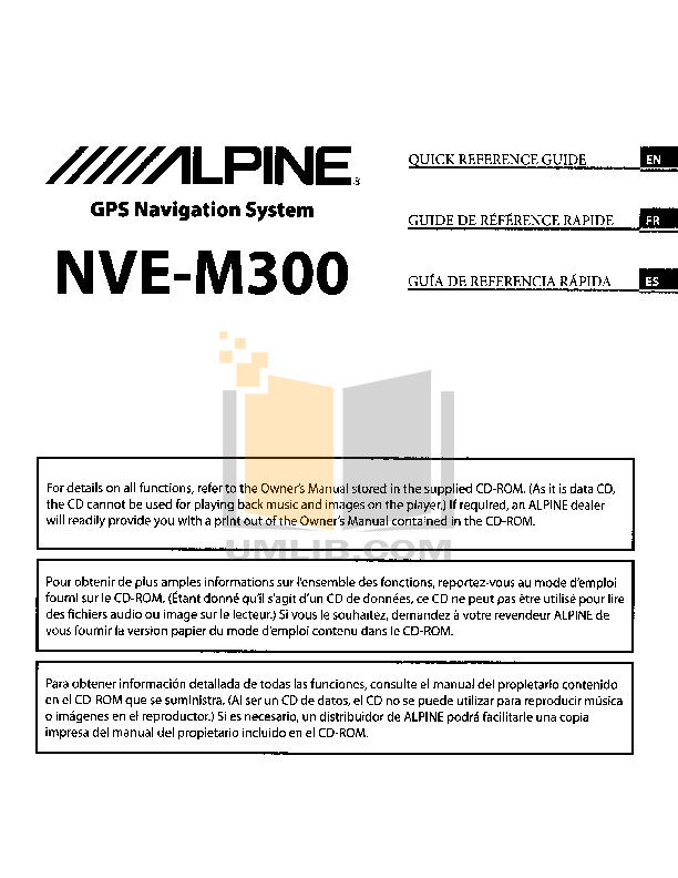 pdf for Alpine Car Video IVA-D105 manual