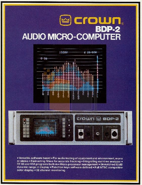 pdf for Crown Other BDP-2 Audio Micro-Computer manual