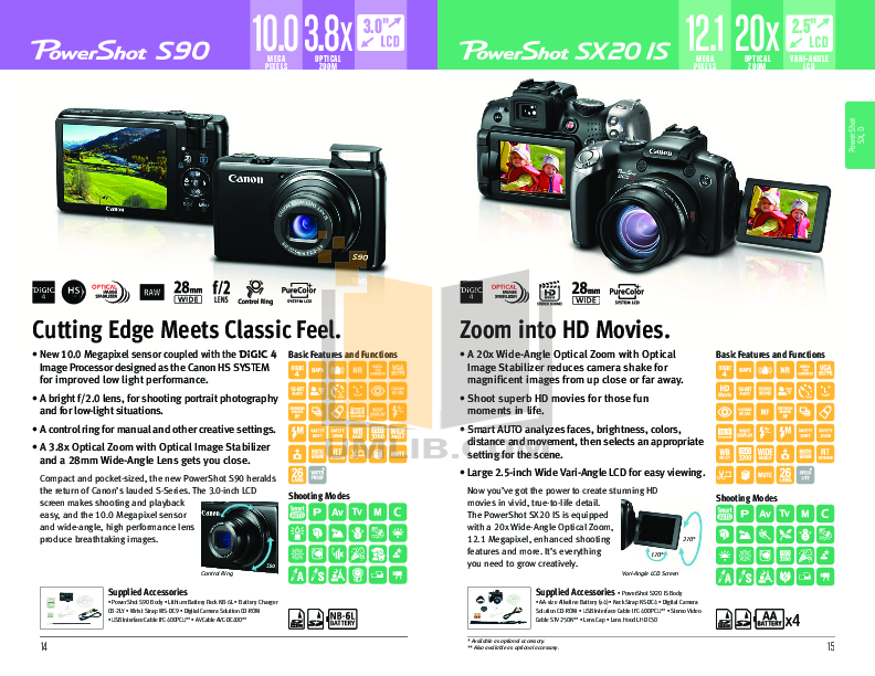 Canon Digital Camera Powershot SD4000 IS pdf page preview