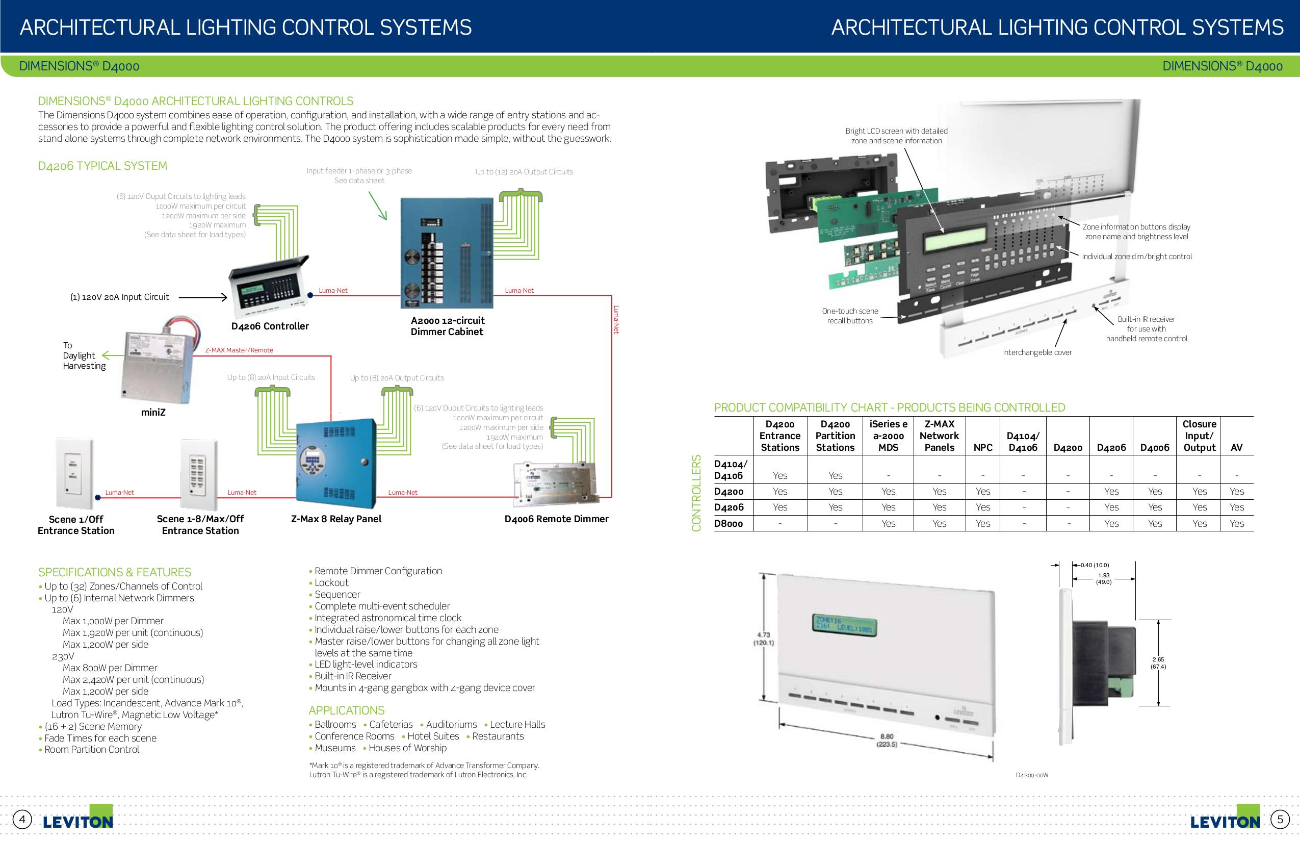 PDF manual for Leviton Other Remembrance DMX-512 Control