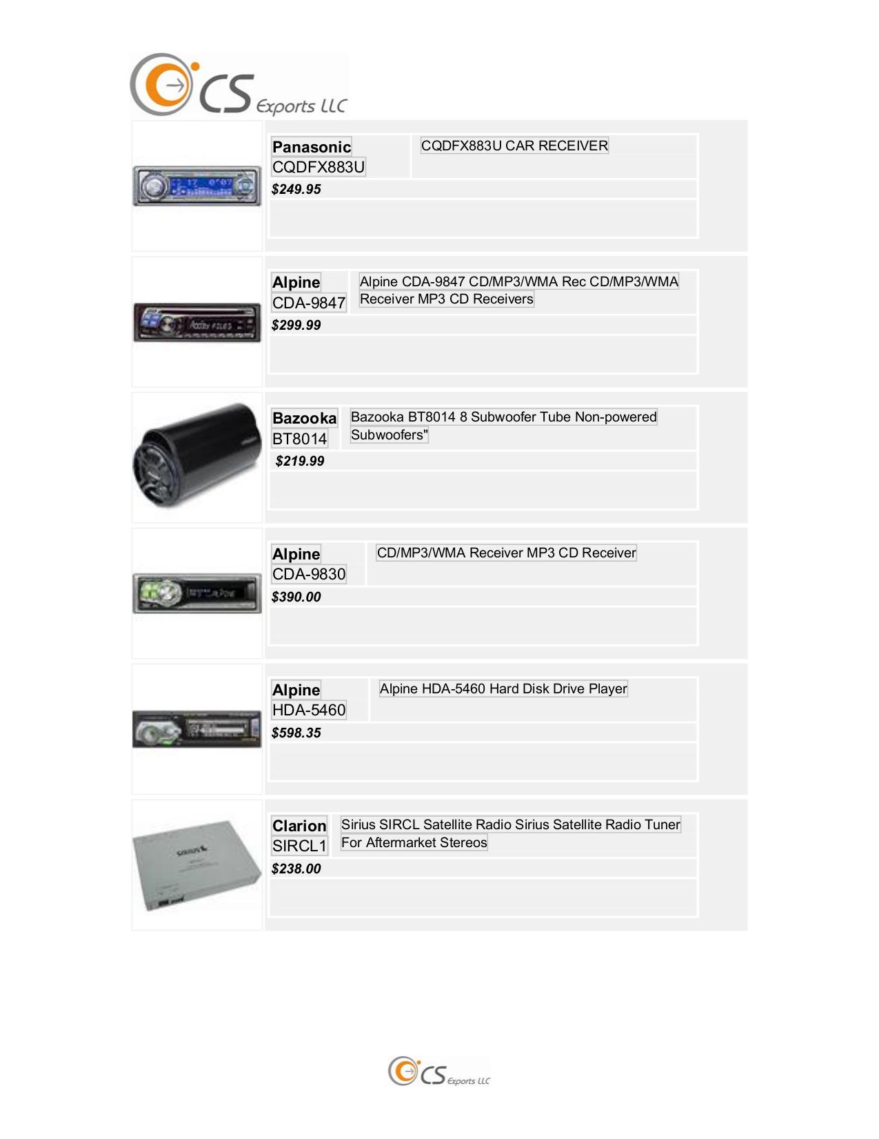 pdf for panasonic car receiver cq-c8100u manual