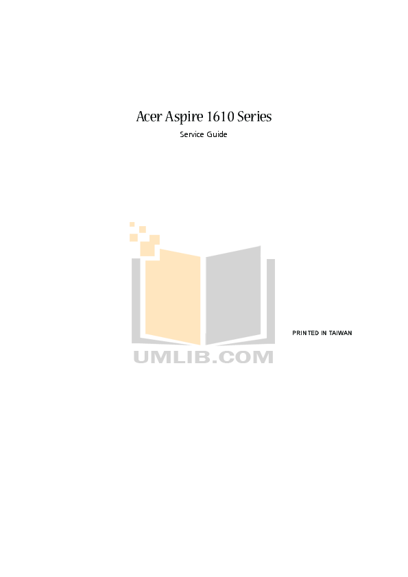 pdf for Acer Desktop Aspire M1610 manual