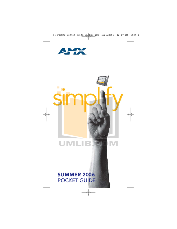 pdf for Amx Monitor AXT-CV10 manual