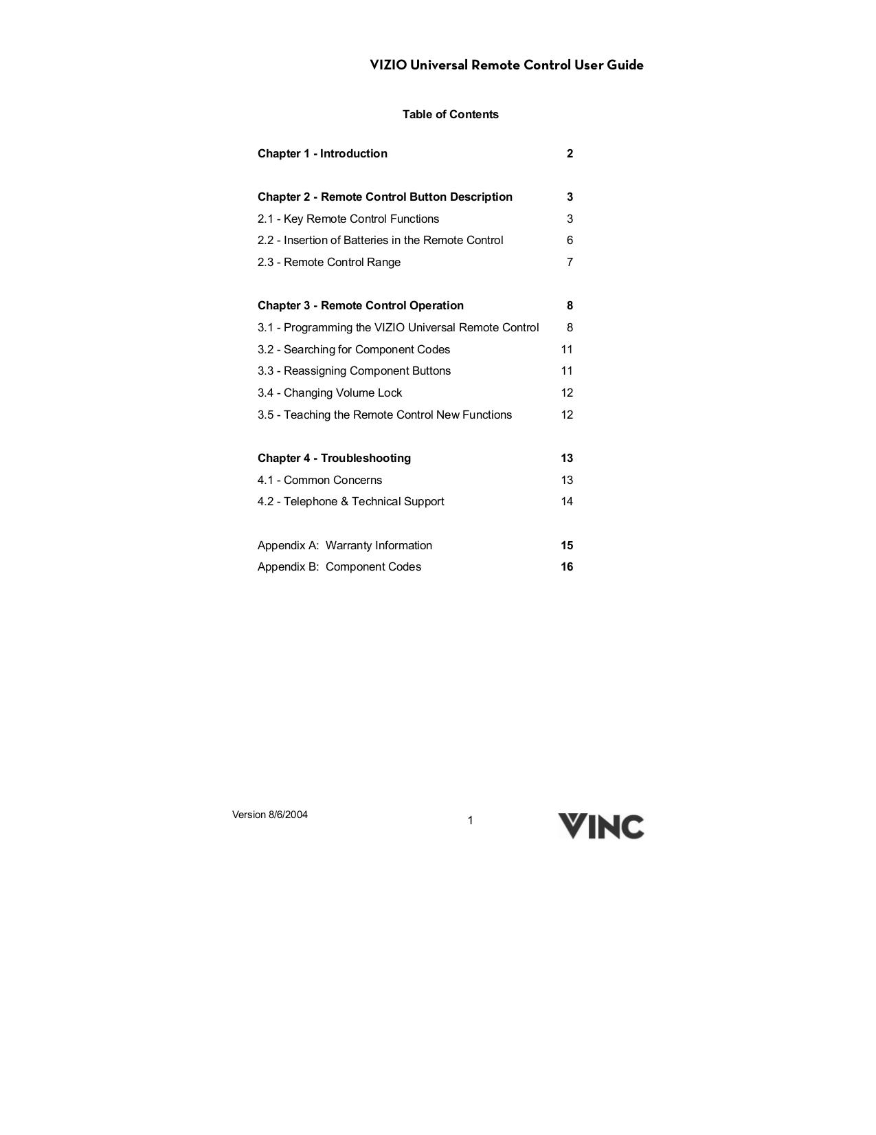 pdf for Vizio DVD Players VBR210 manual