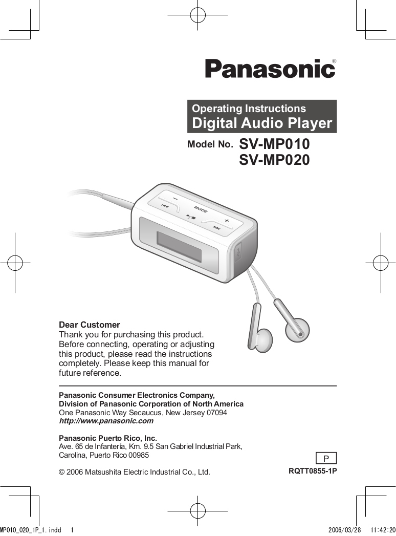 download free pdf for panasonic sv mp010 mp3 player manual rh umlib com Smallest MP3 Player Portable MP3 CD Player