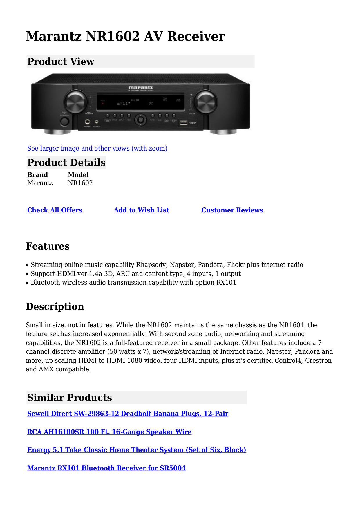 download free pdf for marantz nr1602 receiver manual rh umlib com  marantz nr1602 manual pdf download