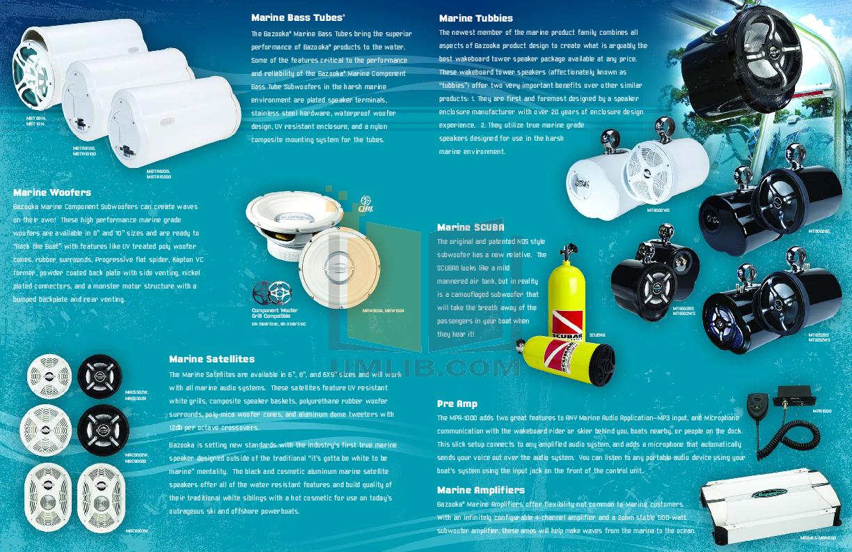 Bazooka Speaker MAC6903W pdf page preview