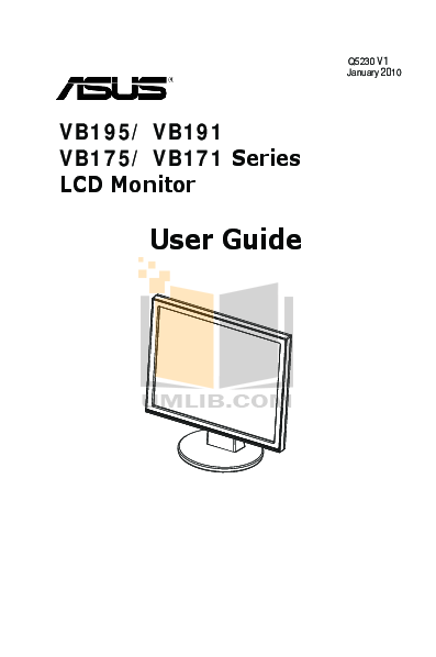 pdf for Asus Monitor VB195T manual