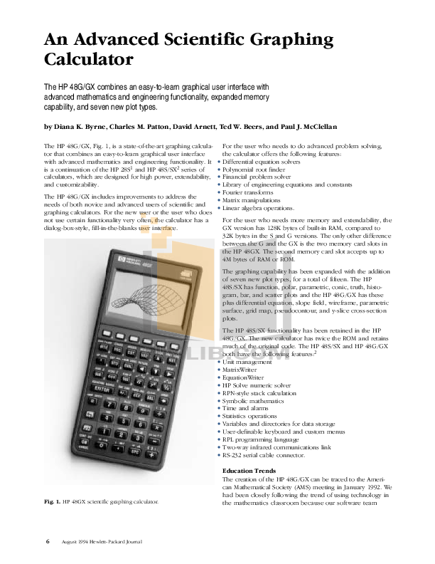 Download free pdf for HP 48g Calculator manual