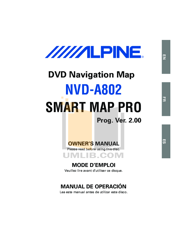 pdf for Alpine Other IVA-C801 Mobile Multimedia Station manual