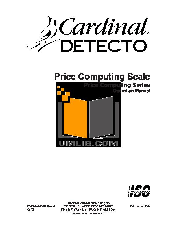 pdf for Detecto Printer P220 manual