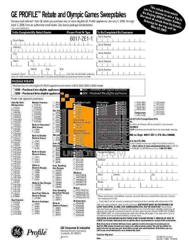 pdf for GE Dishwasher PDW8800L manual