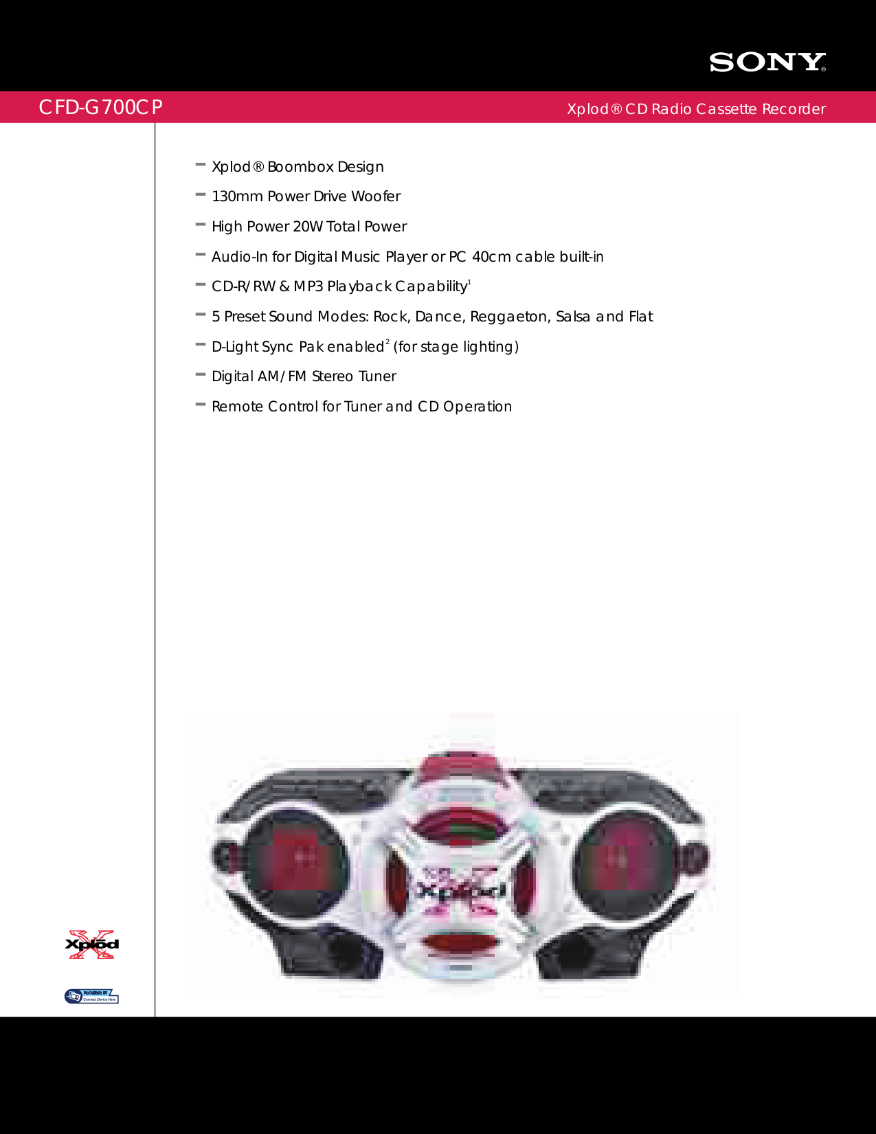 download free pdf for sony cfd g700cp boombox manual rh umlib com Sony Xplod Boombox Walmart sony xplod cfd-g700cp boombox manual