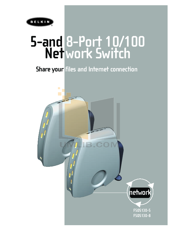 pdf for Belkin Switch F5D5130-5 manual