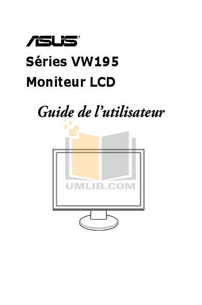 pdf for Asus Monitor VW195T manual