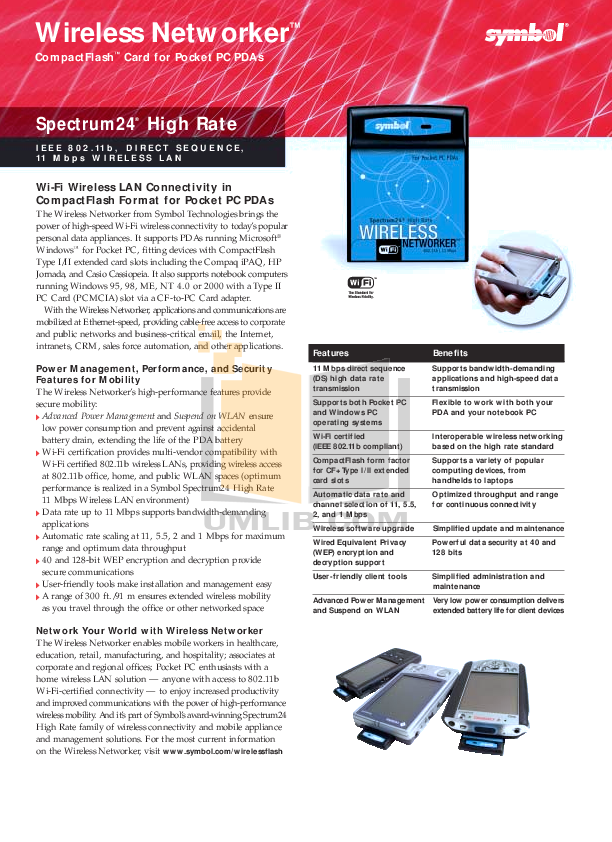 Casio PDA Cassiopeia E-100 pdf page preview