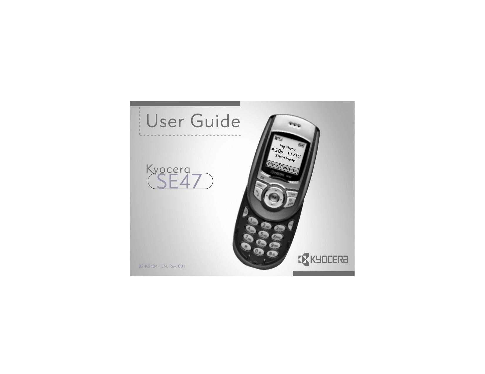 pdf for Kyocera Cell Phone Slider SE44 manual