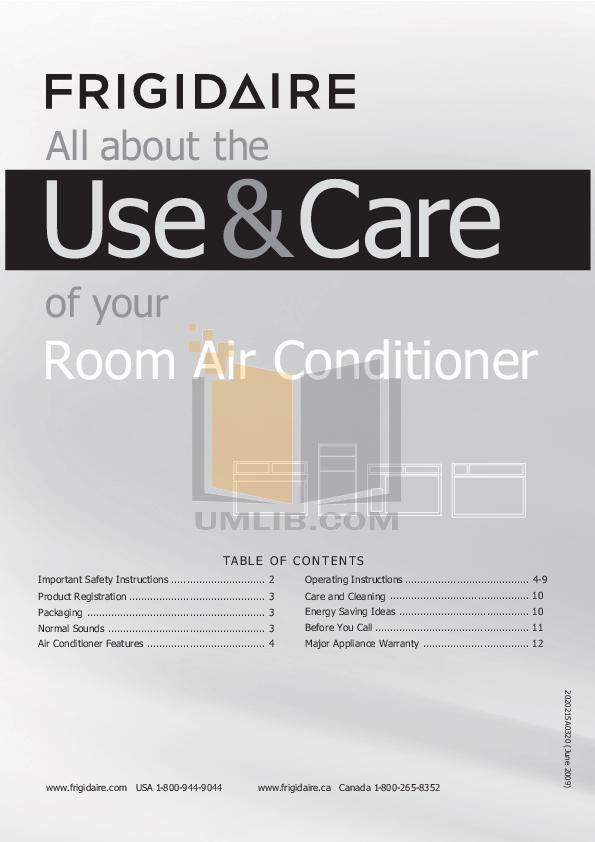 download free pdf for frigidaire fac127p1a air conditioner manual rh umlib com Frigidaire Parts frigidaire fac127p1a air conditioner manual