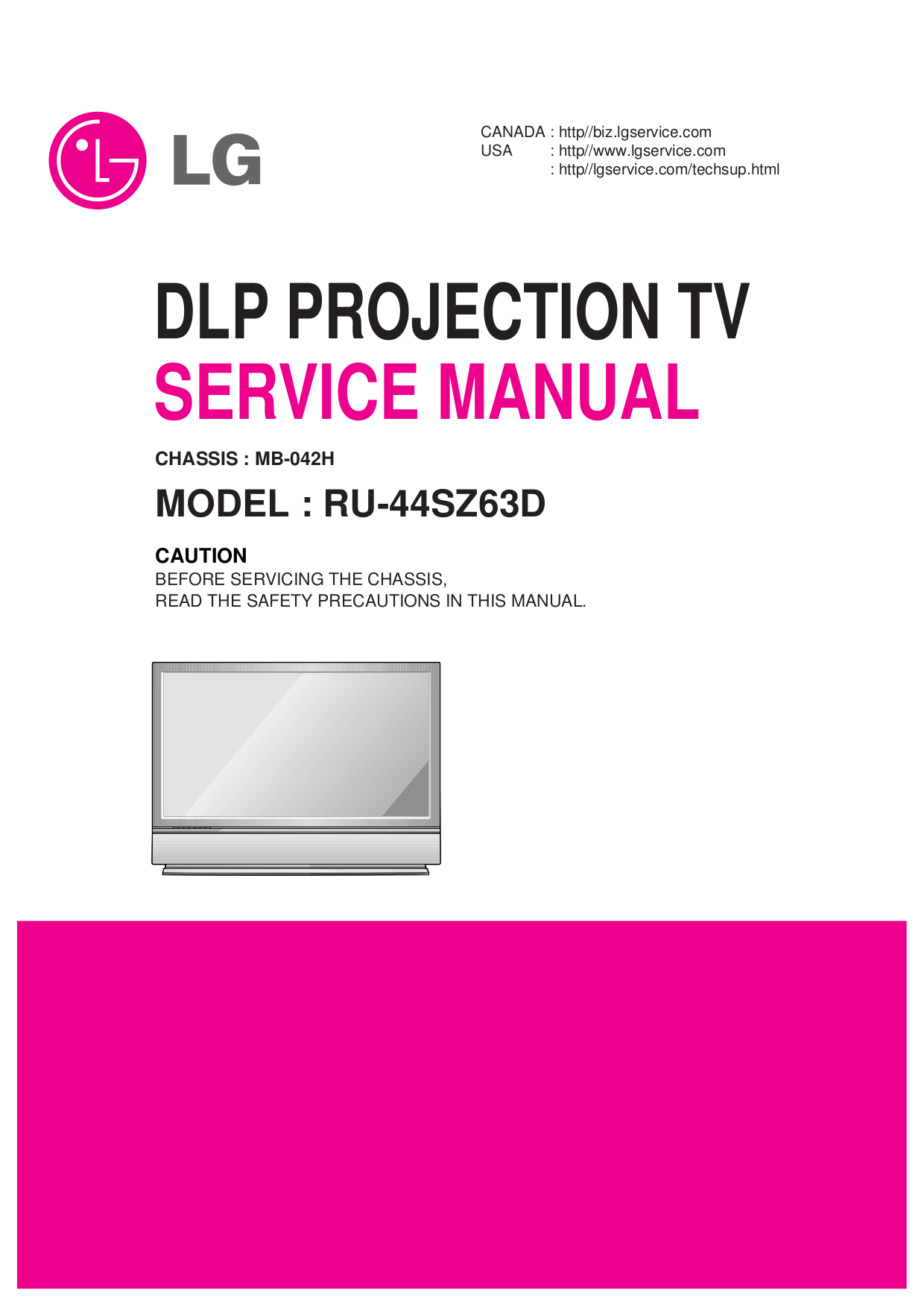 pdf for LG TV RU-44SZ51D manual